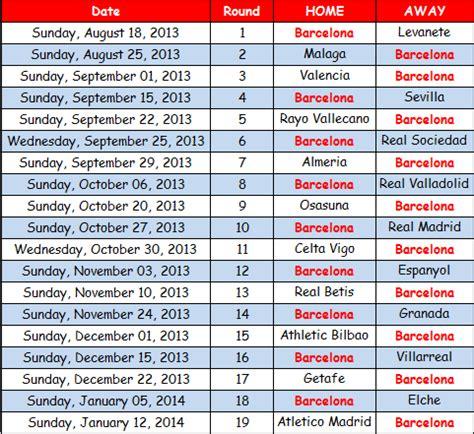 Calendrier Liga 2017 Espagne Search Results For Calendrier De La Liga Espagnol 2016