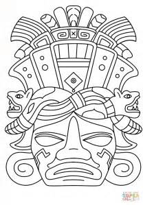 aztec mask template 12 best images of mayan mask template printable mayan
