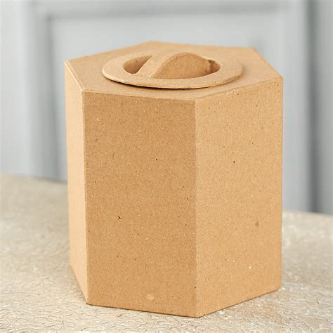 Paper Mache Craft Supplies - paper mache hexagon box paper mache basic craft