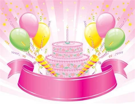 Birthday cake for tarpaulin background free vector