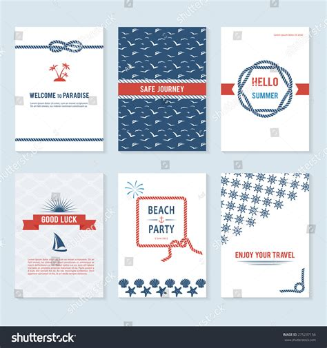 Card Banner Template by Set Six Vector Banner Templates Marine Stock Vector
