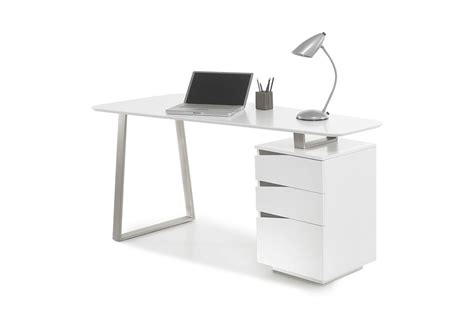 meuble bureau blanc bureau d ordinateur blanc laqu 233 mat novomeuble