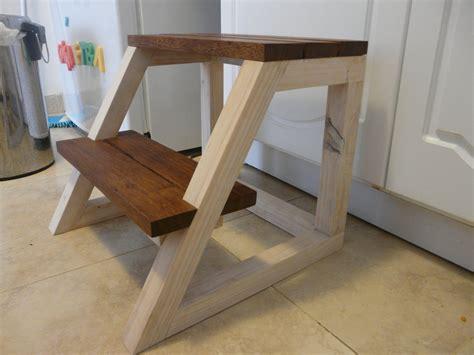 step by step woodworking minimalist reclaimed wood step stool by lumberjod