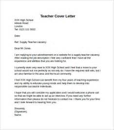 Cover Letter For Teaching In School by Cover Letter Exle 10 Free Documents
