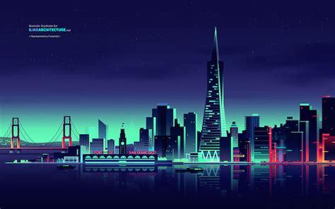 amazing lights amazing city lights illustrations fubiz media