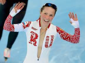 olga graf of russia celebrates bronze medal win with