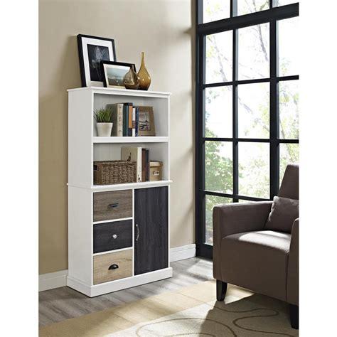 Altra Furniture Mercer White Storage Bookcase 9634096 White Bookcase With Storage