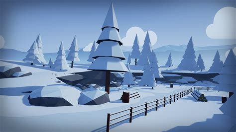 New Home Blueprints stylized low poly environment by mackenzie shirk in