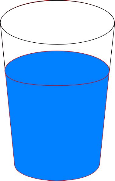clipart water cup of blue water clip art at clker vector clip art