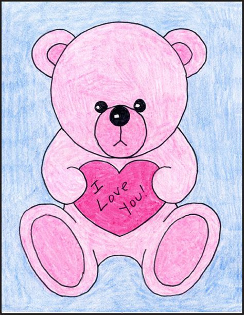 valentines teddy drawing projects for how to draw a teddy