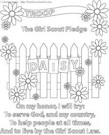 daisy scout coloring pages free
