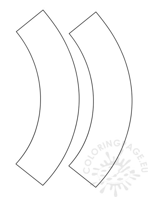 Wrappers Template blank cupcake wrapper template coloring page