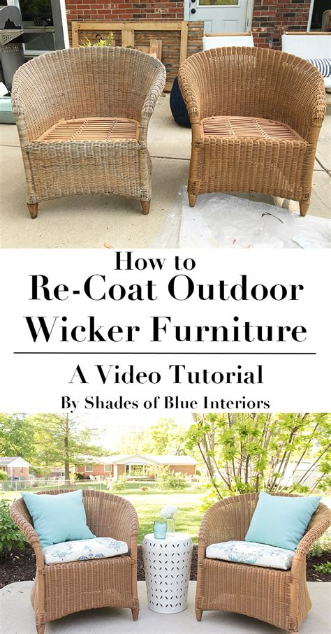 real wicker patio furniture how to re coat wicker furniture shades of blue interiors