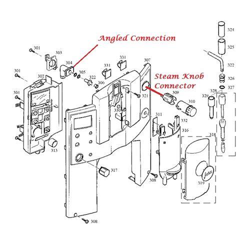 Jura E8 E9 E75 Angled Steam Pipe Connector