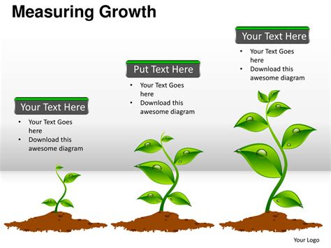 ppt templates for growth measuring growth financial icons planning powerpoint