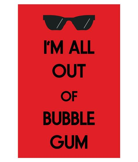 Im Paper - emporio i m all out of gum poster printed on