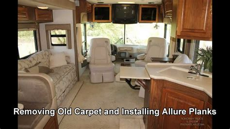 remove old rv carpet amp replace with allure planks vinyl