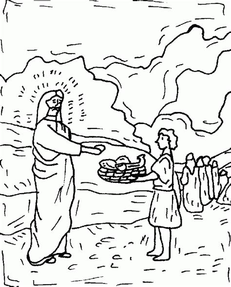 coloring pages jesus feeds 5000 jesus feeds 5000 coloring page az coloring pages