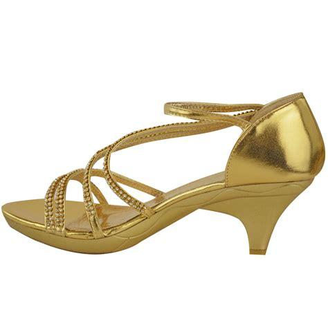Bridal Sandals Low Heel by New Womens Low Heel Bridal Wedding Sandal