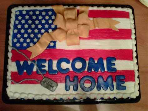 Military Welcome Home Decorations julie daly cakes welcome home military