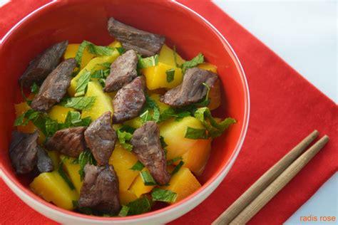 cuisiner mangue salade tha 239 boeuf mangue et menthe