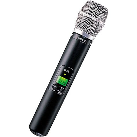Microphone Wireless Shure Uhf 555 Wireless Microphone 2 Clip On shure slx2 handheld wireless uhf transmitter slx2 sm86 g4 b h