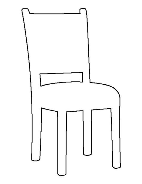 Card Chair Template by Chair Pattern Use The Printable Outline For Crafts