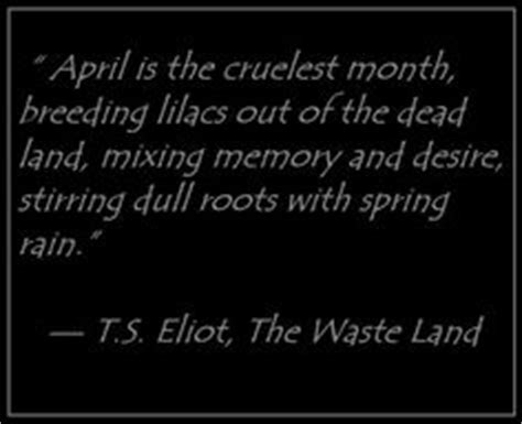 The Cruelest Month poem a and portrait on