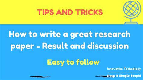 how to write a paper fast how to write a great research paper fast result and
