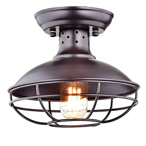 industrial semi flush mount lighting dazhuan industrial vintage metal cage pendant lighting