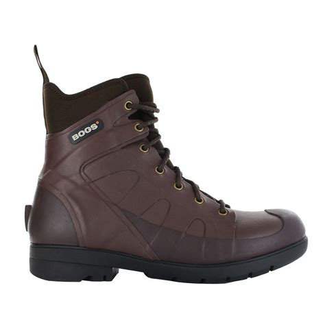 mens rubber boots size 14 bogs turf stomper 7 in size 14 chocolate waterproof
