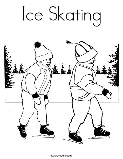 hockey rink coloring pages ice skating coloring page twisty noodle