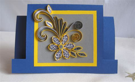 Designs For Greeting Cards With Handmade Paper - quilled birthday card handmade quilling paper card