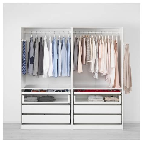 Wardrobe Images by Pax Wardrobe White Auli Mirror Glass 200x66x201 Cm
