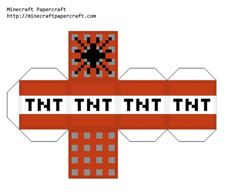 minecraft tnt block template papercraft simplecraft tnt minecraft