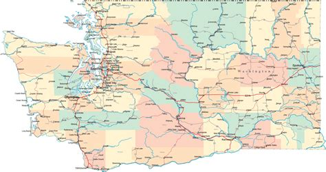 washington county map state of washington map with cities county