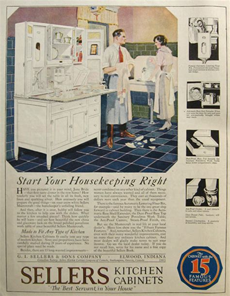 kitchen cabinet advertisement 1921 sellers kitchen cabinets ad vintage household ads