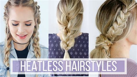 hairstyles for prom games 3 days of heatless hairstyles hair tutorial youtube