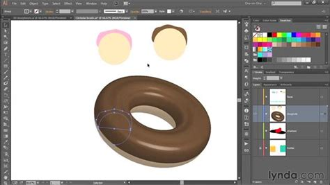 illustrator tutorial donut 343 creating a 3d doughnut in illustrator
