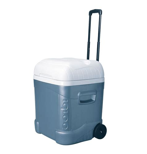 igloo ice cube roller cooler igloo ice cube maxcold 70 quart roller 45332