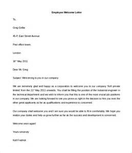 Letters To Staff Templates by 31 Hr Welcome Letter Template Free Sle Exle