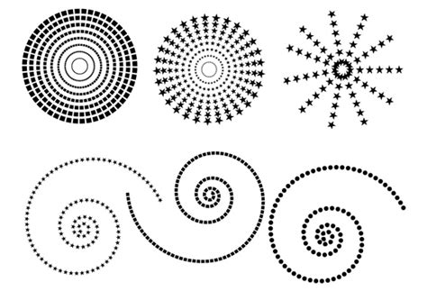 dot pattern drawing free dotted patterns free vector 4vector