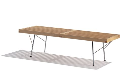 herman miller bench george nelson platform bench with metal base hivemodern com