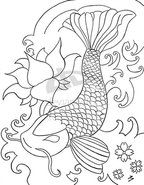 line art tattoo koi line by ivynightwind on deviantart