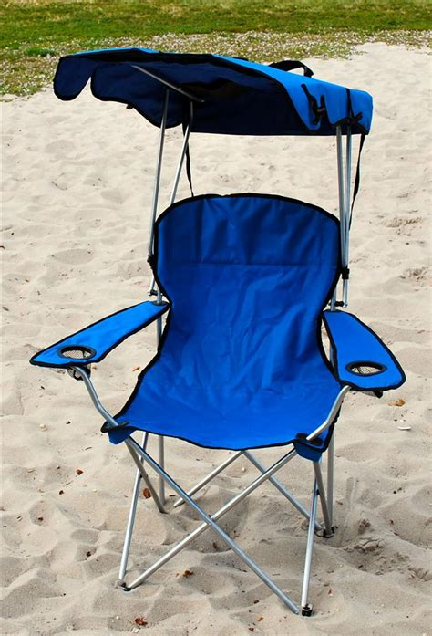 Outdoor Chairs With Canopy by Folding Canopy Chair Cing Chair Xl Outdoor Chairs Blue Ebay