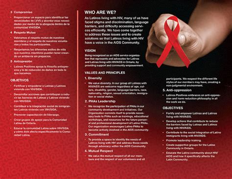 Hiv Aids Brochure Templates by Gil Martinez Latinos Positivos