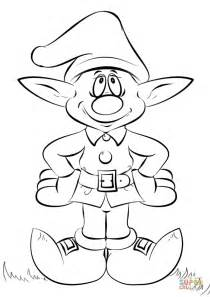 Christmas Elves Coloring Pages sketch template