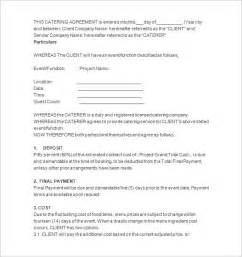 catering contract templates 11 catering contract templates free word pdf