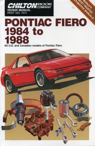 how to download repair manuals 1986 pontiac fiero parking system pontiac fiero 1984 88 chilton s repair manual at virtual parking store books manuals