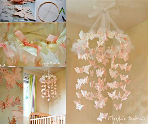 Handmade Craft Tutorials - wonderful diy pretty butterfly chandelier mobile